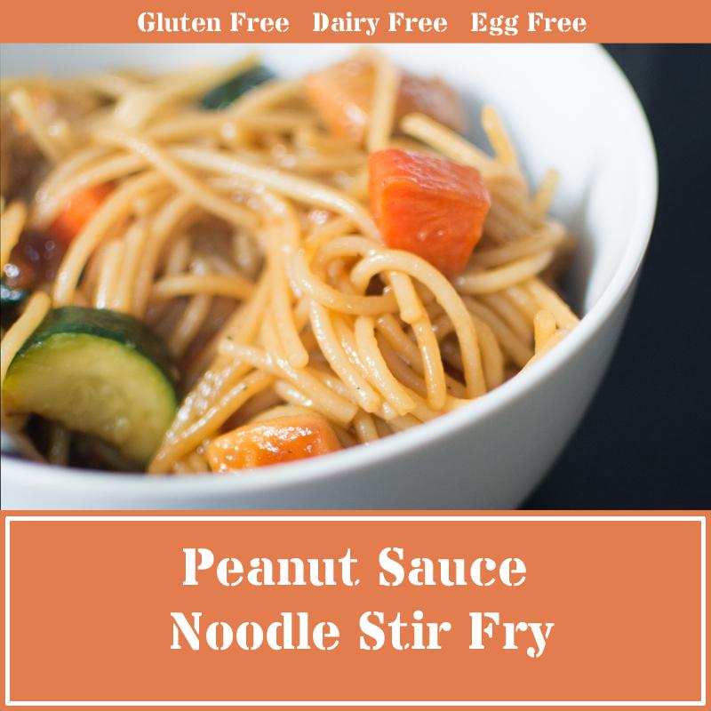 peanut sauce noodle stir fry