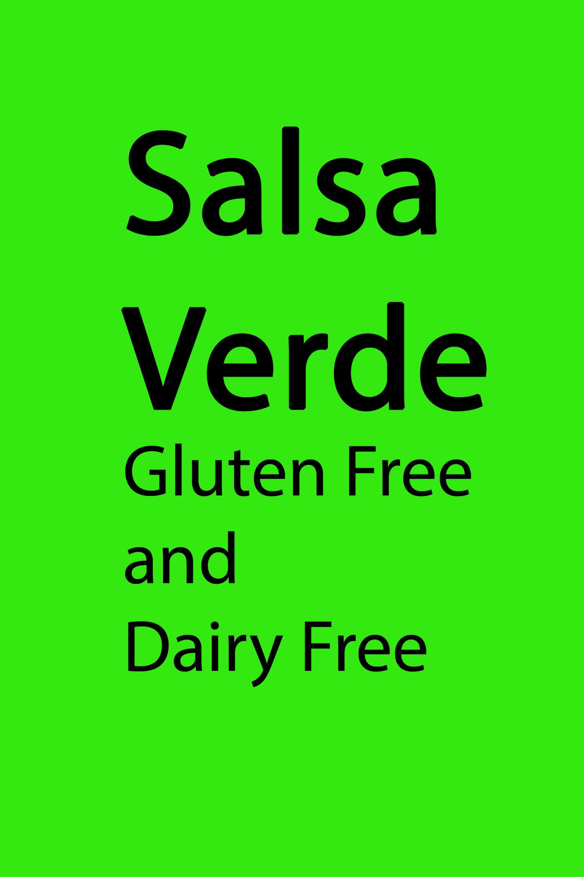 Salsa Verde Recipe Gluten Free Dairy Free