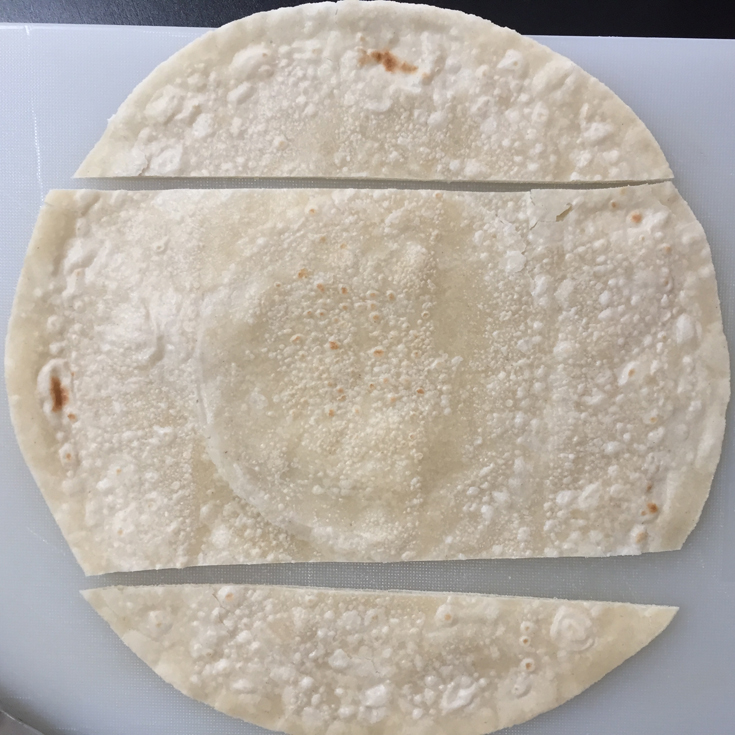 brown rice tortilla cut