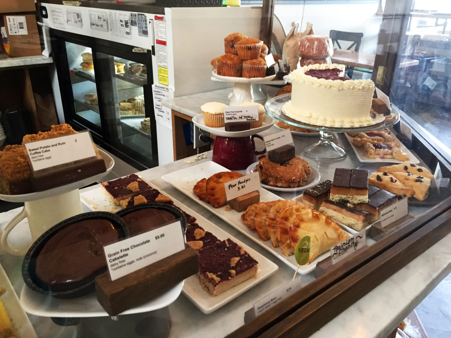 Delicious gluten free and some vegan pastries and cakes at Nuflours