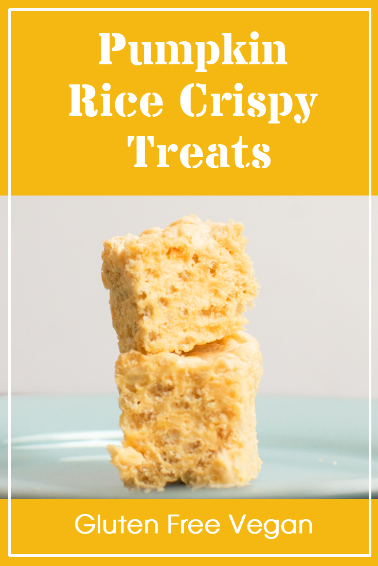 Pumpkin Vegan Gluten Free Rice Crispy Treats