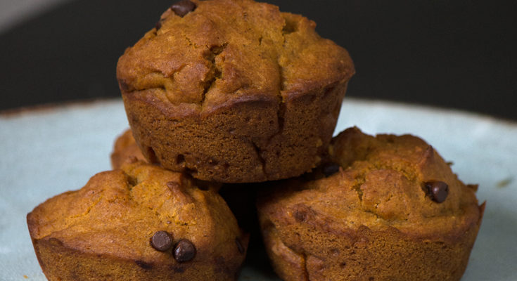 Gluten Free Chocolate Chip Pumpkin Spice Muffins